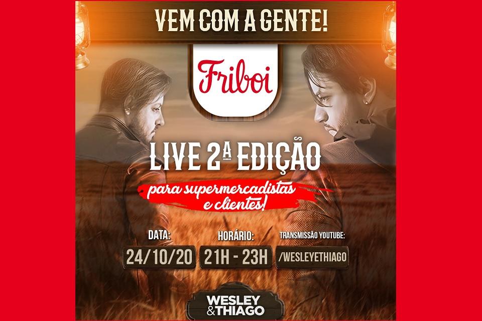 banner da live friboi 2 edição para supermercadistas e clientes.