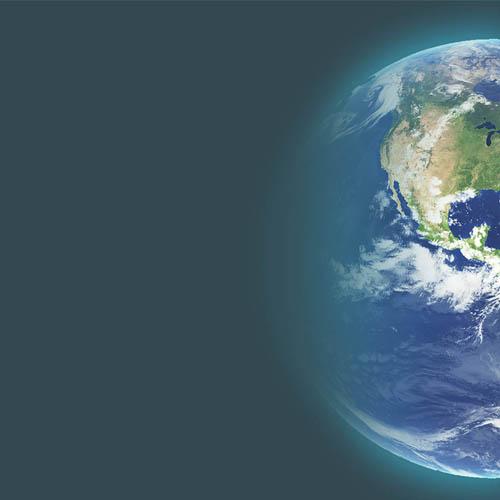 globo terrestre visão satellite